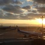 羽田空港 第2ターミナルのレストランで朝食