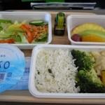 サイパン デルタ航空の機内食 ベジタリアン(特別食)をオーダー