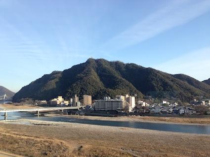 金華山と岐阜城