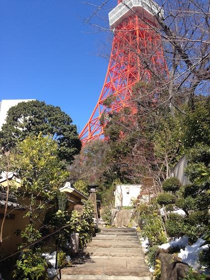東京タワーとランチ