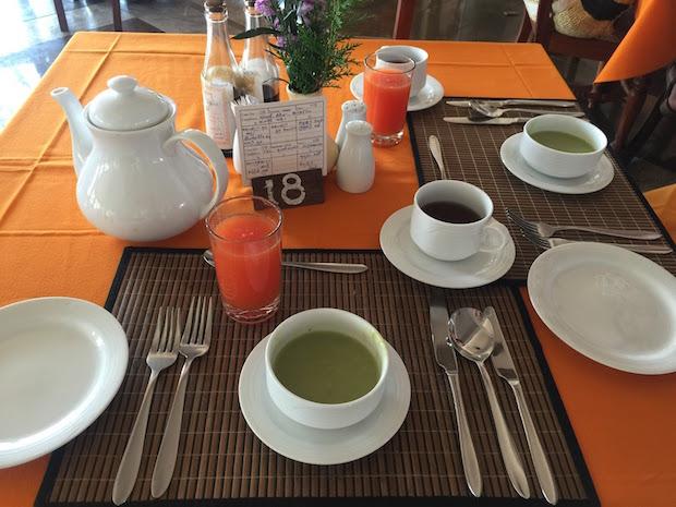 緑のスープかゆ